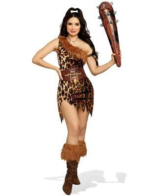 Women's Sexy Cavegirl Dress Up Costume