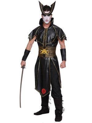 Men's Plus Size Japanese Samurai Warrior Costume Front Image