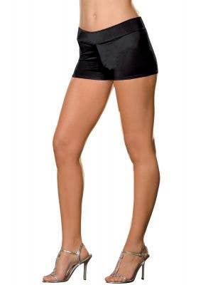 Women's Black Booty Shorts Costume Accessory