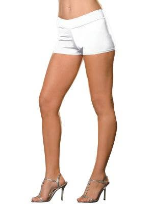 Plus Size White Women's Booty Shorts Costume Accessory