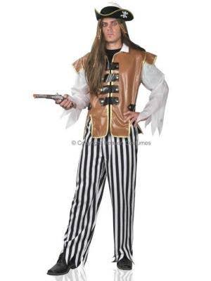 Caribbean Men's Pirate Captain Fancy Dress Costume