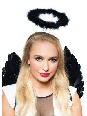 Dark Angel Women''s Black Halo Costume Accessory - Main Image