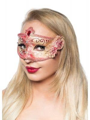 Edwardian Red Adult's Masquerade Mask