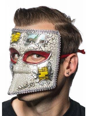 Medieval Men's Silver Masquerade Mask