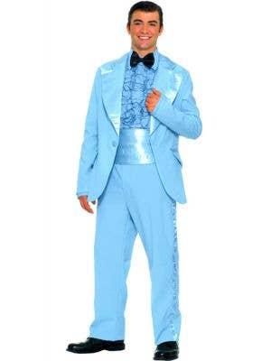 50's Men's Blue Prom King Tuxedo Dress Up Costume
