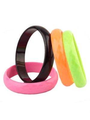 80's Bangle Bracelets - Set of 4