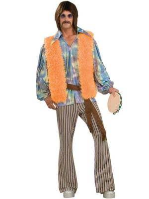 60's Singer Men's Sonny Hippie Fancy Dress Costume