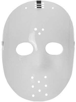 Friday the 13th Style White Plastic Hockey Halloween Mask