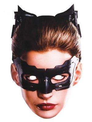 Flat Cardboard Catwoman Costume Mask Main Image