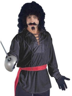 Swashbuckler Pirate Men's Black Costume Shirt