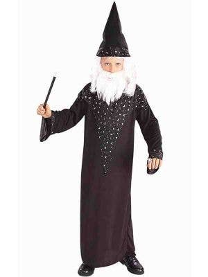 Merlin Boy's Magic Wizard Medieval Costume Front View