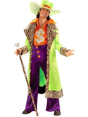 Big Daddy Men's Green Plus Size Pimp Dress Up Costume