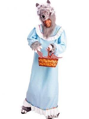 Granny Wolf Men's Storybook Fancy Dress Costume