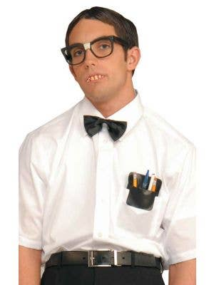School Geek Costume Kit with Glasses, Teeth, Bow Tie and Pocket Pen Holder