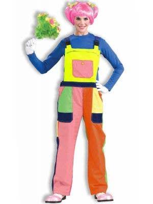 Circus Clown Women's Deluxe Costume Overalls