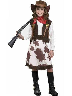 Western Girl's Cowgirl Costume Front View