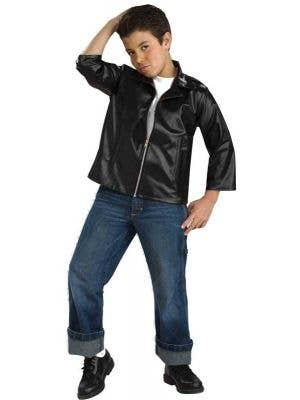 Boy's Rockabilly Greaser T-Bird Movie Costume Front View