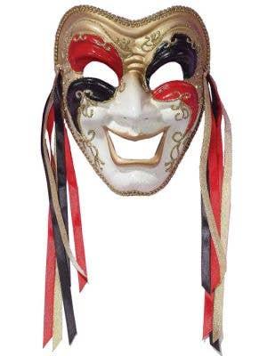 Full Face Comedy Masquerade Mask on Headband
