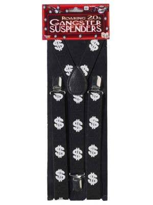 Gangster Dollar Sign Suspenders