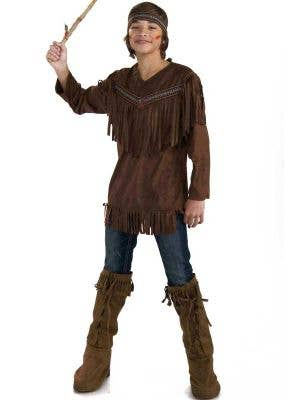 Teen Boy's Native American Indian Book Week Costume Front View