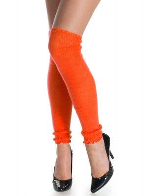 1980's Neon Orange Leg Warmers