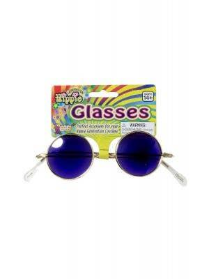 Round Teashade Blue John Lennon Hippie Sunglasses