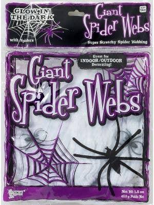 Glow in the Dark Super Stretchy White Spider Web Halloween Decoration