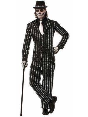 Men's Skeleton Print Costume Suit