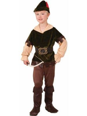 Robin Hood Boy's Archer Medieval Costume Front View