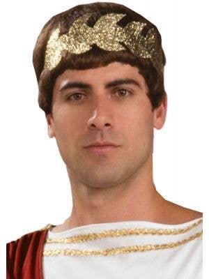 Roman Golden Wreath Headband Costume Accessory
