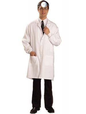 Men's Long White Medical Lab Coat Doctor Costume Main Image