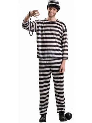 Prisoner Plus Size Men's Striped Convict Costume