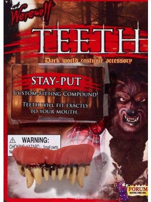 Werewolf Halloween Fake Teeth and Putty