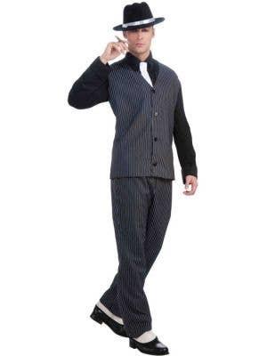 Striped Men's 20's Mob Boss Gangster Costume Main Image