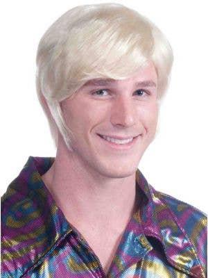 Men's 70's Guy Short Blonde Costume Wig
