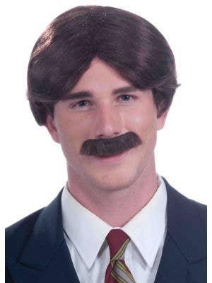 Mr. 70's Short Brown Men's Costume Wig