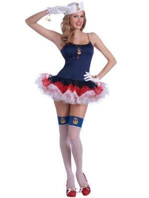 Lady in the Navy Slip Dress Women's Sailor Costume