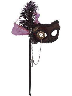 Deluxe Steampunk Masquerade Mask on Headband