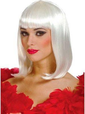 Peggy Sue Women's Deluxe White Bob Costume Wig