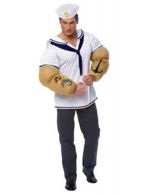 Pop Eye Men's Sailor Costume Front View
