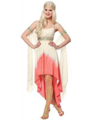 Sexy Women's Roman Goddess Fancy Dress Costume Main Image