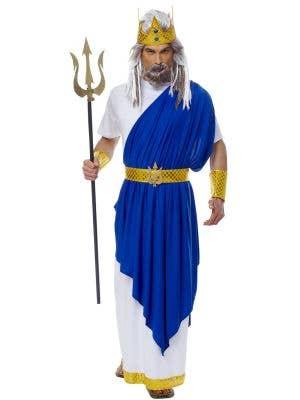 Neptune Men's Roman God Fancy Dress Costume