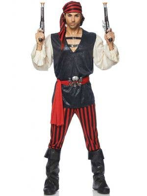 Men's Pirate Fancy Dress Costume Front View