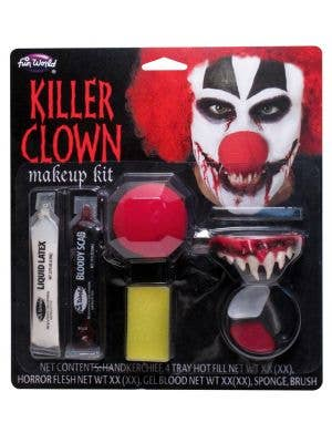 Killer Clown Halloween Makeup Kit