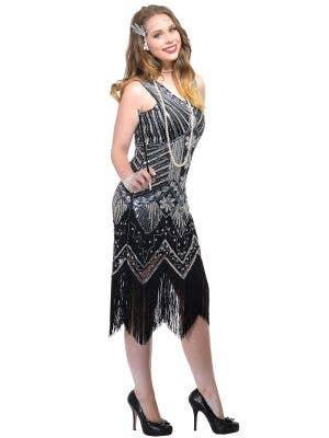 Iridescent Black 1920s Deluxe Womens Gatsby Costume