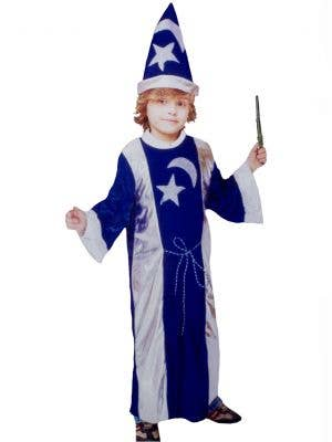 Kids Blue and Silver Wizard Costume