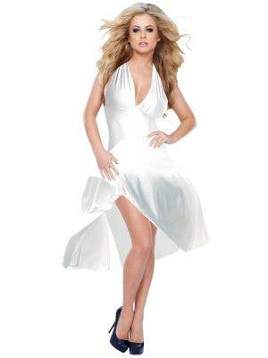 Women's Sexy Marilyn Monroe White Dress Up Costume