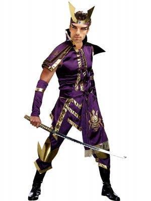 Men's Purple Samurai Warrior Costume - Main Image