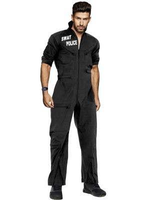 Black SWAT Uniform Dress Up Costume for Men Main Image