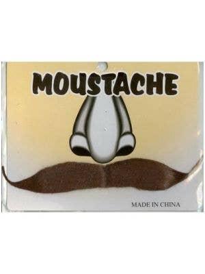 Gentlemen's Brown Stick On Fake Moustache